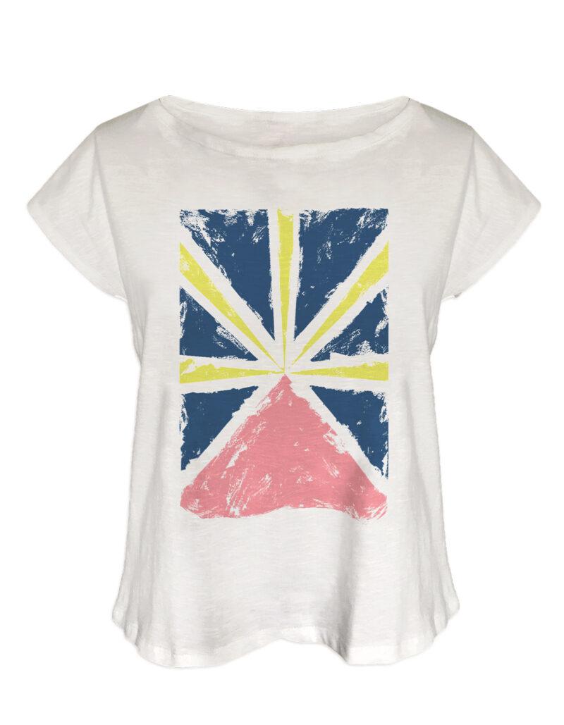 t-shirt femme run flag