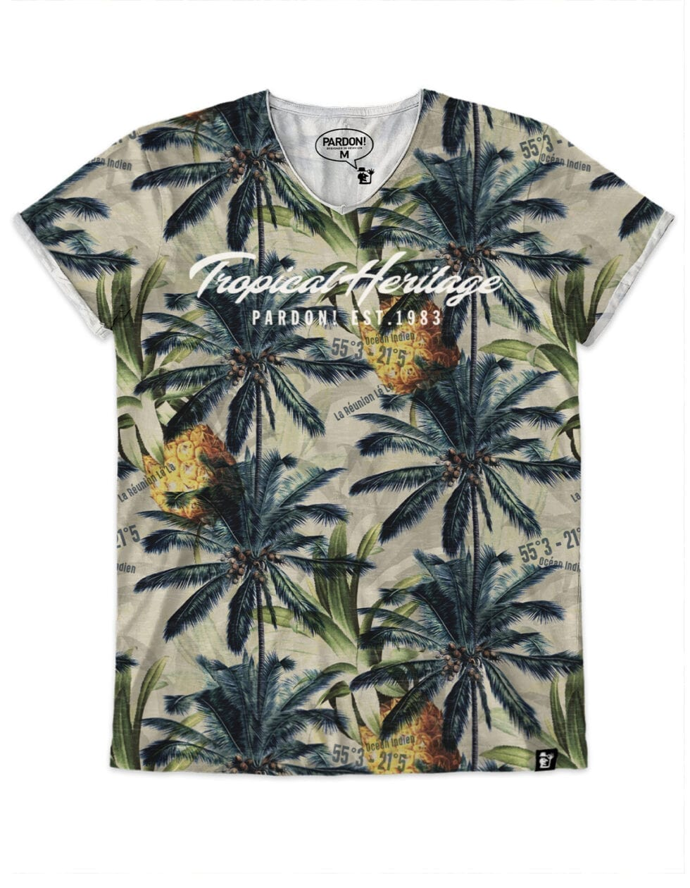 t-shirt homme tropical heritage