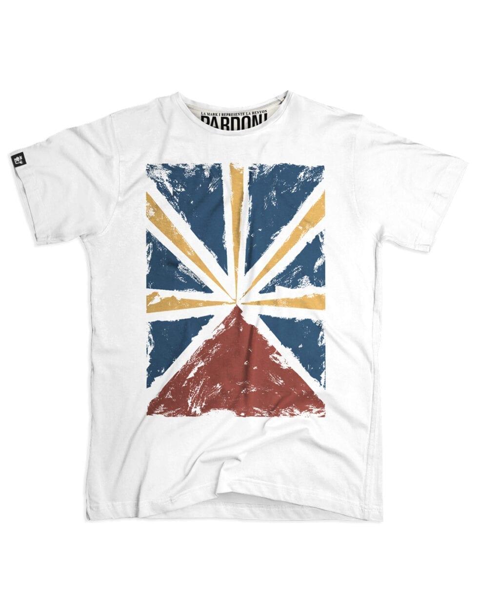 t-shirt homme run flag