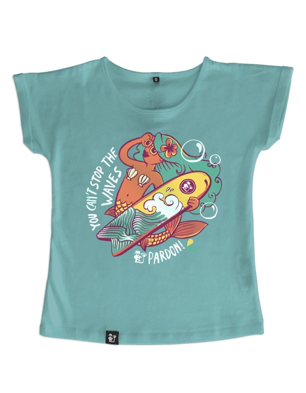 t-shirt fille cant stop the wave