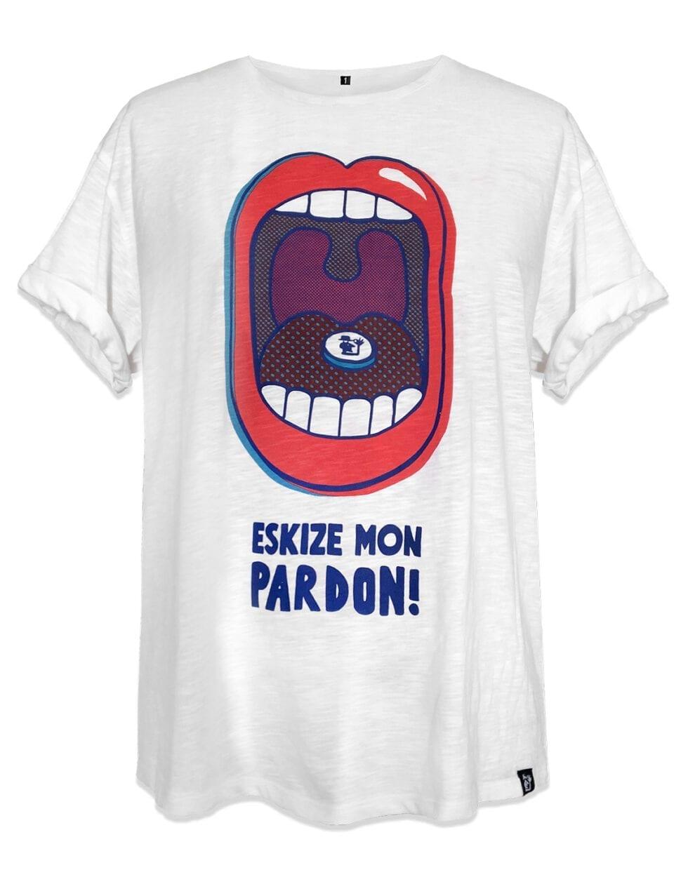 t-shirt femme oversize eskise mon pardon