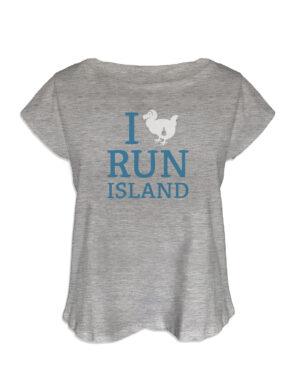 t-shirt femme i run island