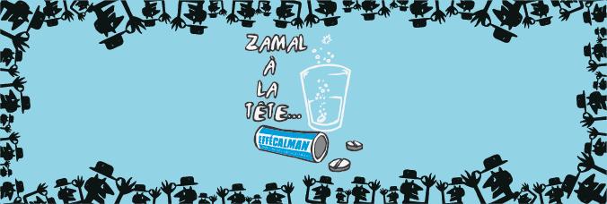 Bannière Zamal à la tête