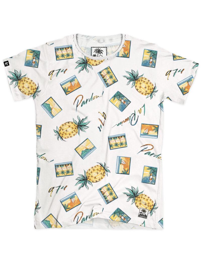 t-shirt homme aop postcards