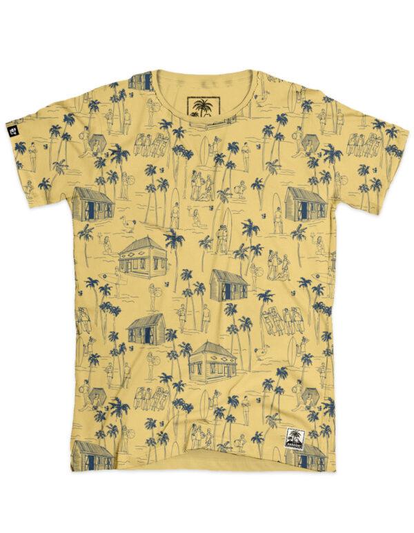 t-shirt homme aop surf jaune