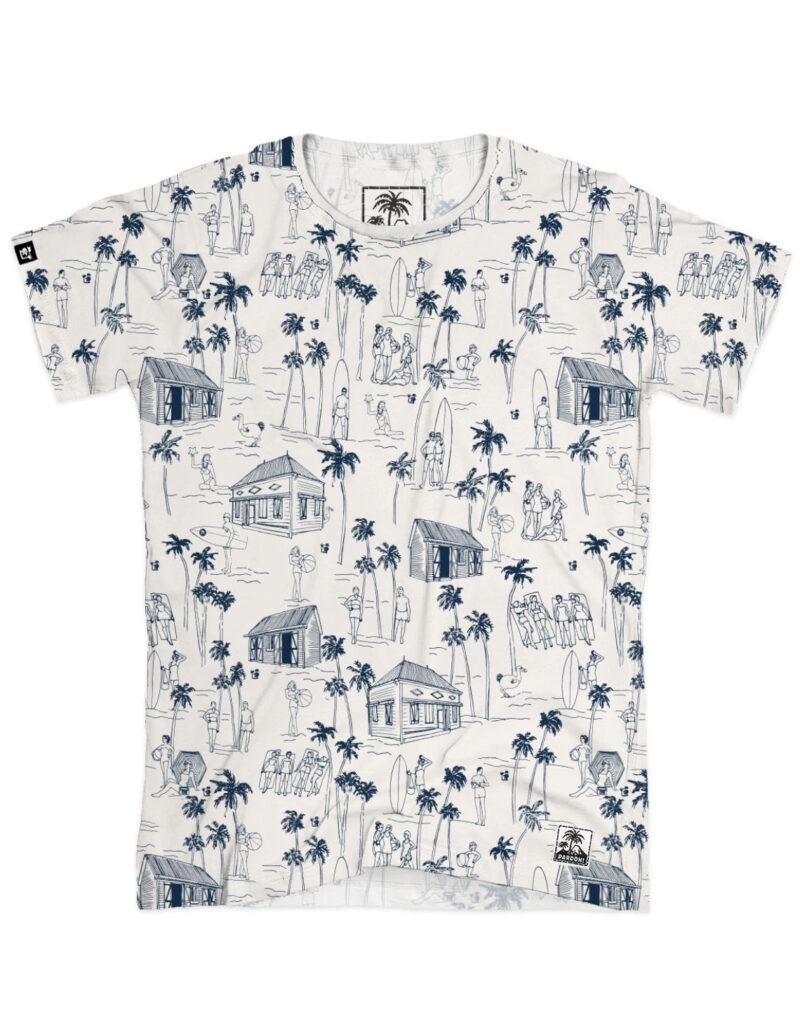 t-shirt man aop surf offwhite