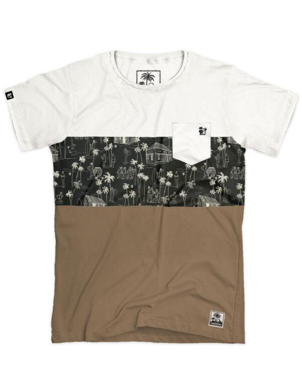 t-shirt homme color block