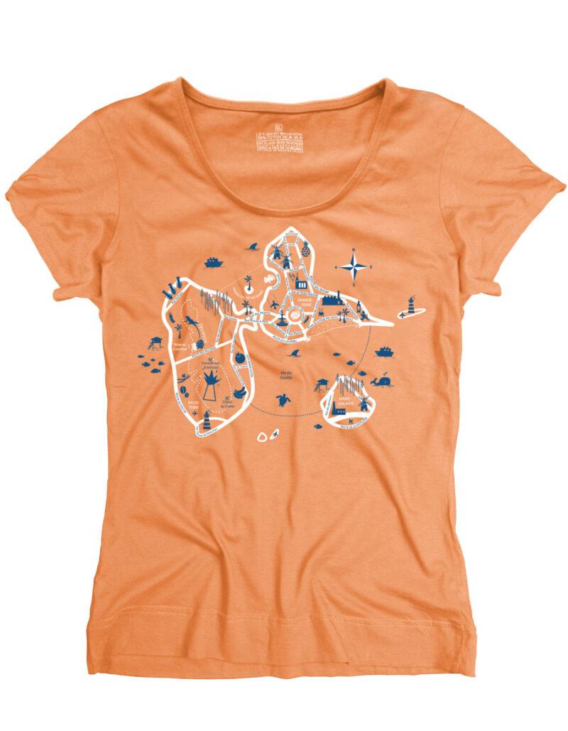 guadeloupe map orange