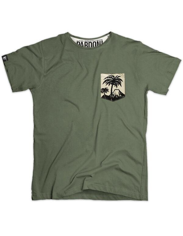 t-shirt homme pocket tropic kaki