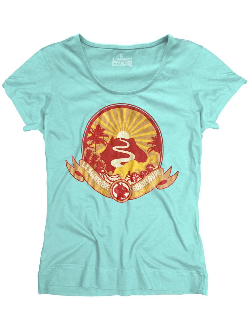 t-shirt femme soufriere lagon