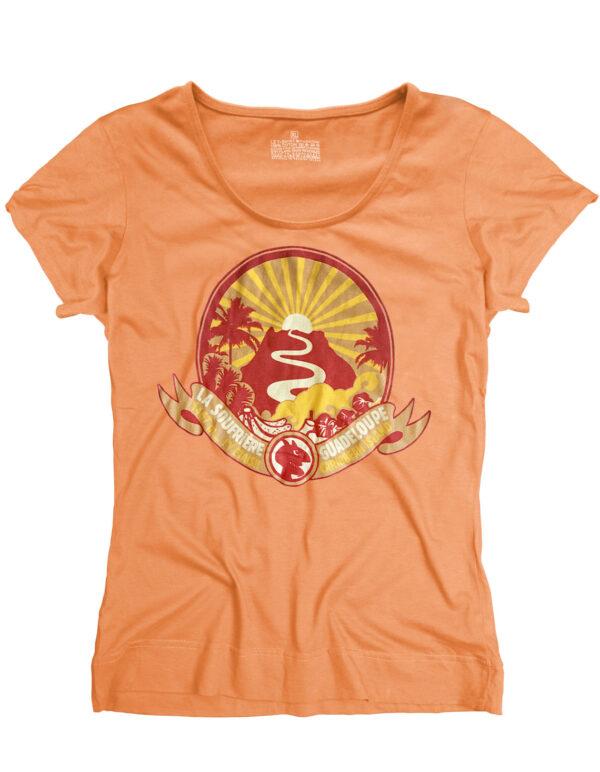 t-shirt femme soufriere mandarine